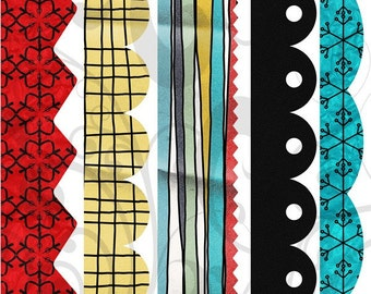 Bold and Bright Borders Collage Sheet 1bnb
