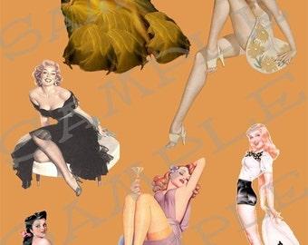 Pin Up Girls Collage Sheet 1puv