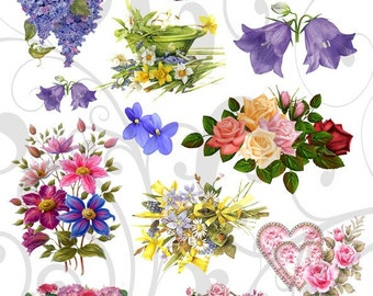 Lots of Pretty Flowers Collage Sheet 222lpf