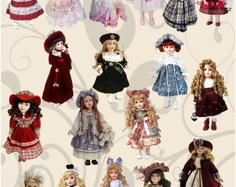 DollsCollage Sheet 1dc You Get A Jpeg Sheet as Well as PNG images