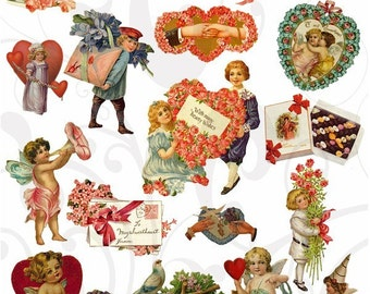 Valentines Collage Sheet 33vc