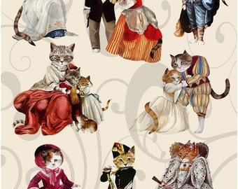 Feline Royalty Collage Sheet 1frc You will get a jpeg sheet as well as individual png images