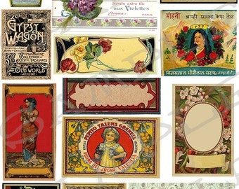 Vintage Ads And Labels Collage Sheet