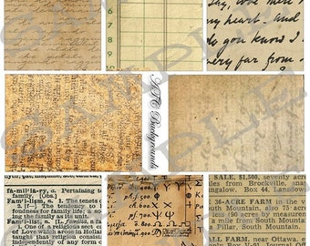 ATC Backgrounds Cottage News print Collage Sheet 1np
