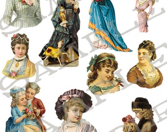 Womens Collage Sheet 11wcs PNG Format Sheet