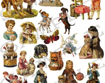 People and Pets Collage Sheet 1pp