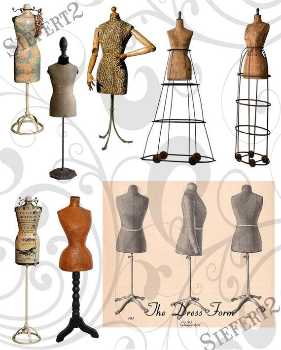 Dress Forms Collage Sheet 1