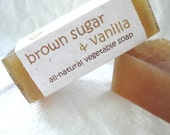Brown Sugar and Vanilla Glycerin Soap, 3.7 oz bar (Vegan, SLS and SLES Free, All-Natural- No Synthetic Colors or Scents)