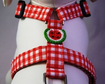 Dog Harness - Red Gingham
