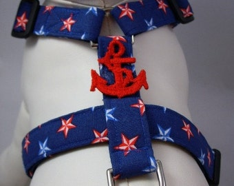 Dog Harness - Nautical Stars