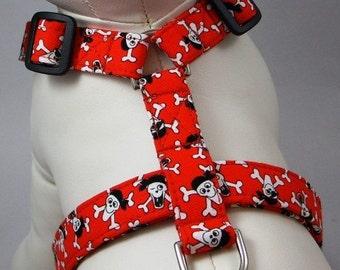 Dog Harness - Red Pirate
