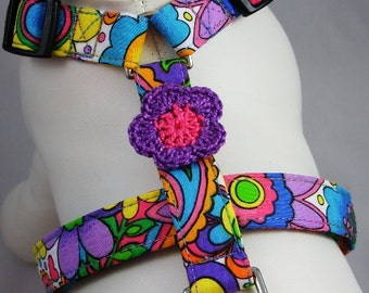 Dog Harness - Flower Power