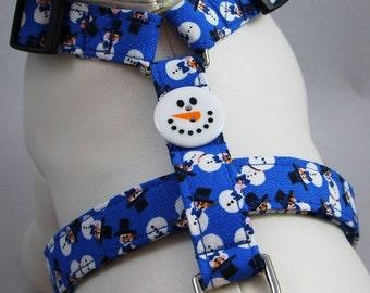 Dog Harness - Snowmen