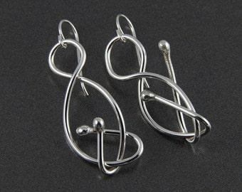 twist dangle earrings