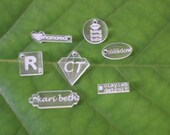 Acrylic Jewelry Tags  - Custom Laser Cut and Engraved With Your Logo or Initials