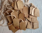 50 xtra small ViNTaGe INSPiReD Hang Tags BLANK Coffee Soak Stained YUMMY