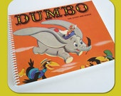 Walt Disney's Dumbo - Recycled Vintage Record Album Cover Spiral Bound Nature Saver Notebook/Journal