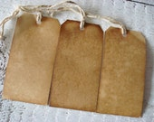 1000 Large ViNTaGe INSPiReD Hang Tags BLANK Coffee Vanilla Soak Stained