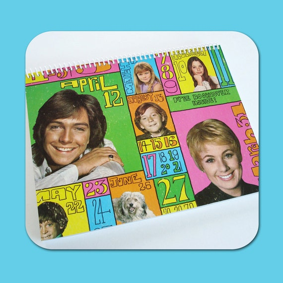 The PARTRIDGE FAMILY Up To Date - Recycled Vintage Record Album Cover Spiral Bound Nature Saver Notebook/Journal