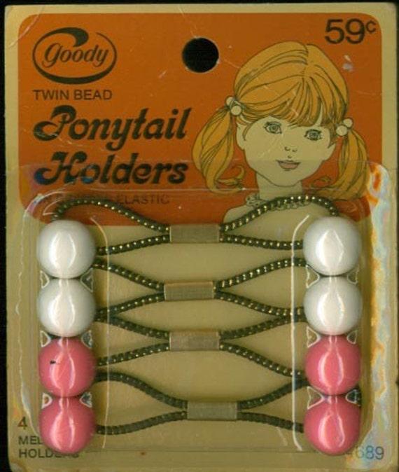 Vintage 70s Goody Acrylic Ball 4 Medium Twin Bead By