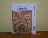 McCalls craft  pattern for plush Bulldog or Chihuahua and boot Christmas stocking  PIF