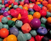 Vintage Lucite Assorted Shapes-Colored Beads - 40