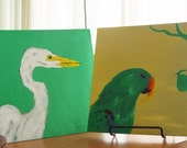 Spring Cleaning Sale - Birds - Original 12x12 Pieces by Ayrielle Davis