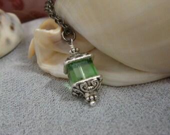 Fey Lantern Necklace - Absinthe Green