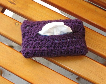 Travel-Size Tissue Cover (Plum Jewel)