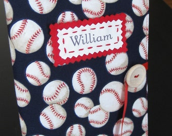 vintage baseball boy gift personalized brag book