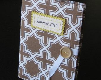 personalized brag book photo album in spring lattice