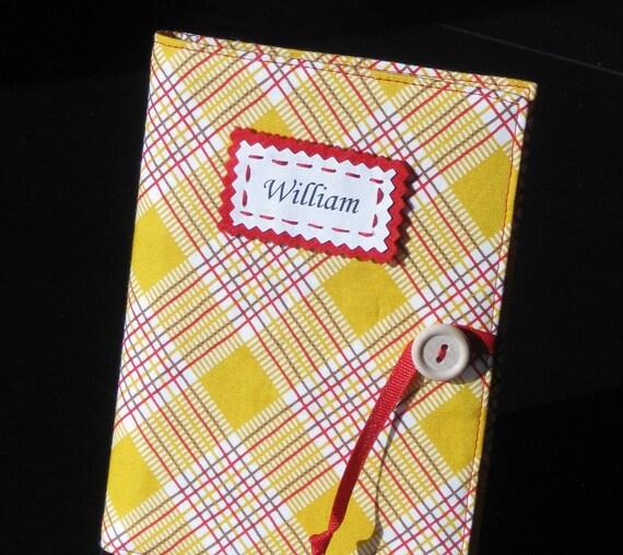 yellow plaid american jane personalized brag book photo album