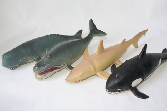 Shark Toy Set : Instant ocean collection tiger shark right whale sperm