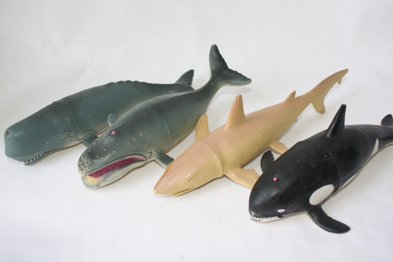 Instant Ocean Collection Tiger Shark Right Whale Sperm Whale