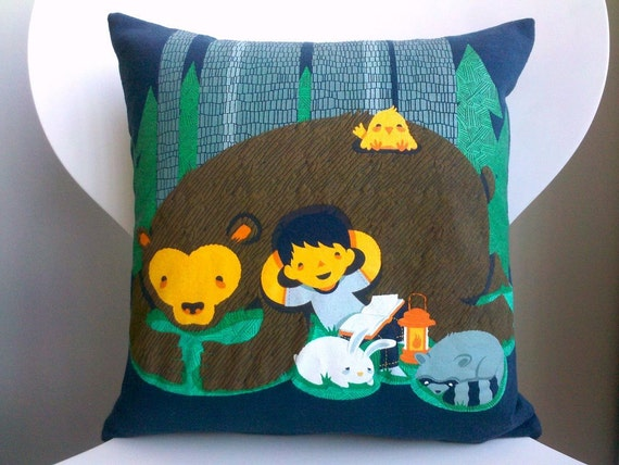 Upcycled Threadless Tee Pillow