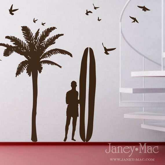 Vinyl Wall Art  - Surfer Wall Pack - OTY100