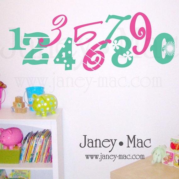 Numbers Wall Decal - Children Bedroom Nursery - Playroom Vinyl Wall Art Sticker - CN101A
