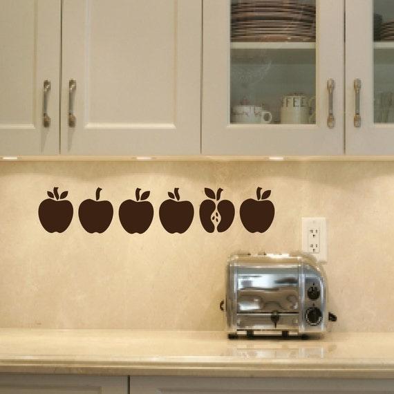 Vinyl Wall Art  - Apple Line