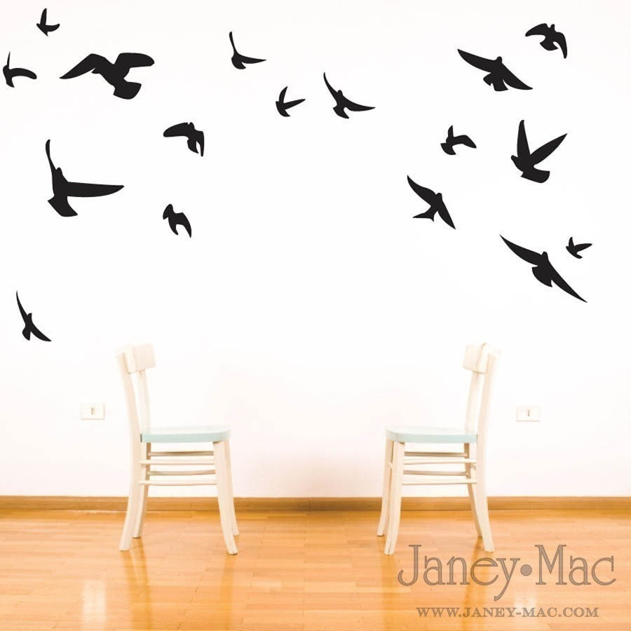 bird wall decal flying birds vinyl wall art room by flying birds decal animal wall decal murals primedecals