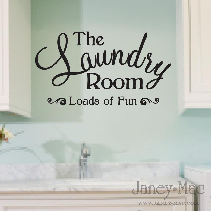 laundry room wall decal quote loads of fun sticker vinyl