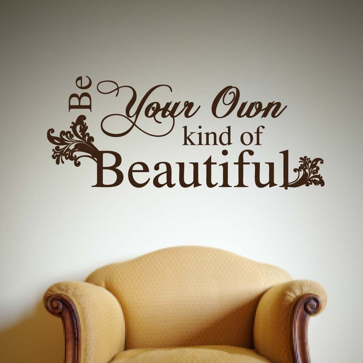 Vinyl wall art be your own kind of beautiful for Beautiful wall art