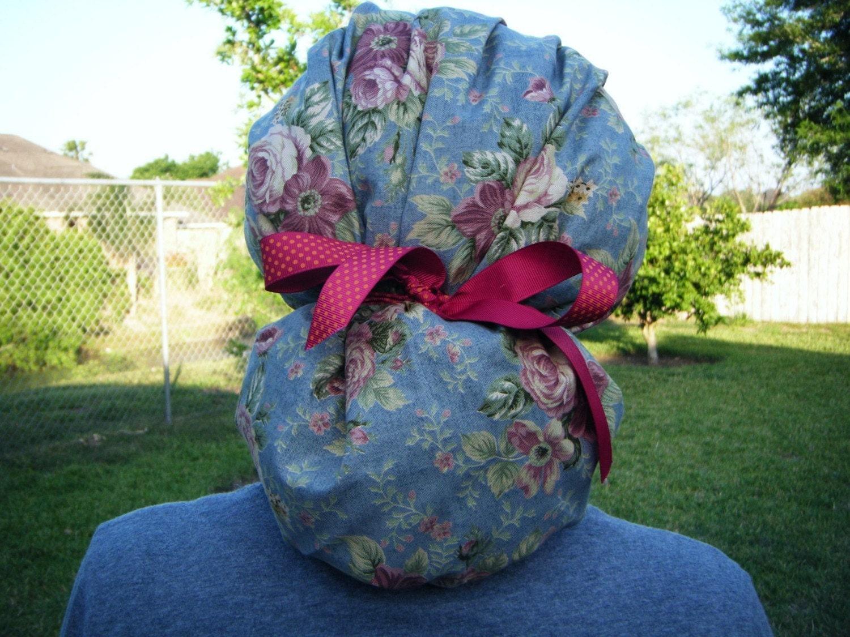 Ponytail Hat Pattern Ponytail Bouffant Scrub Hat