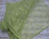 SALE Green Stretch Lace Newborn Wrap
