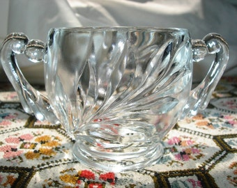 Vintage, 1950s Sugar Bowl, Indiana Depression Glass,1008 Oleander,Collectible