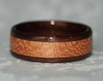 Custom Wooden Ring with Inlay (Bent Wood Method)
