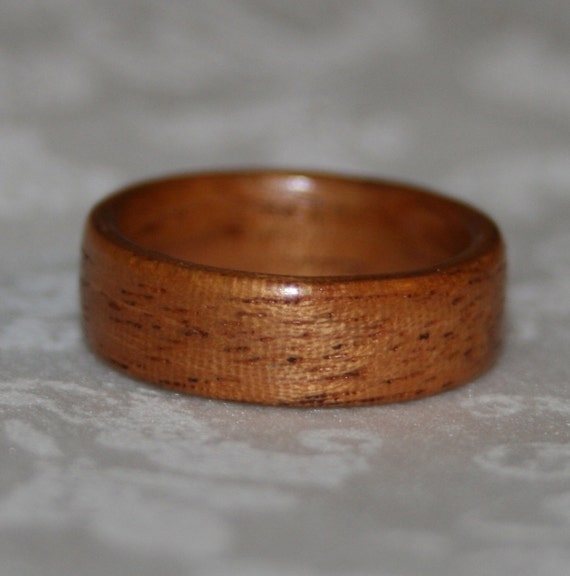 Wooden Ring or Wedding Band - Mahogany (Bent Wood Method)