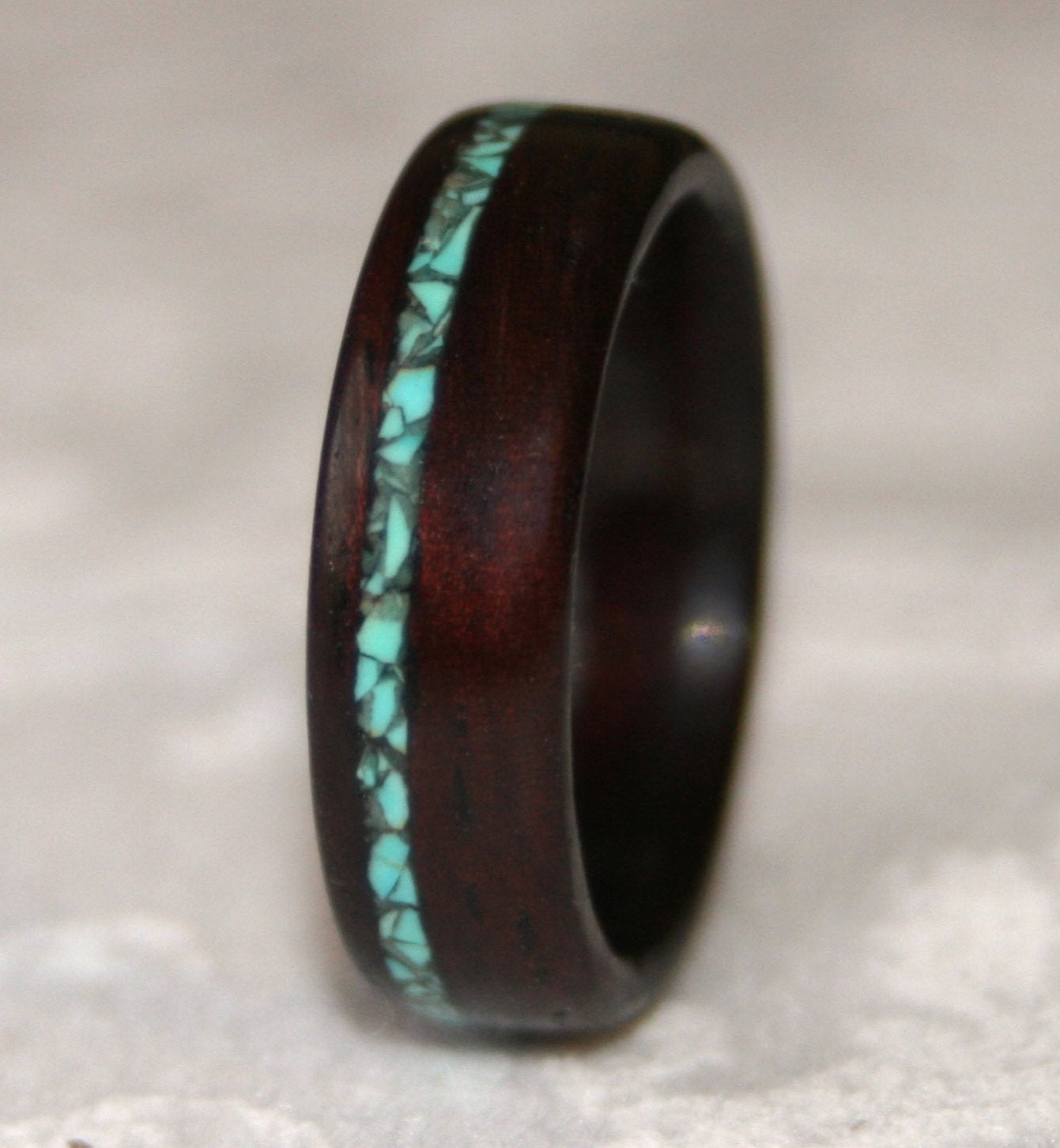 Wooden Wedding Ring Wood Wedding Band Wooden Ring With Stone