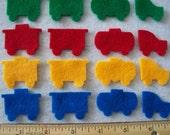 Felt Mini Train parts 1.5 inch  each set of 20 your choice of colors