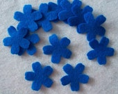 Flower 12 pcs Wool or Craft felt Die cut  style5-4  Your color choice