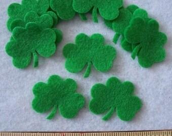 Felt Shamrock clover 12 pcs Apple Green style1-3